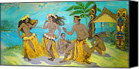 Molokai Canvas Prints - Molokai Hula 3 Canvas Print by James Temple