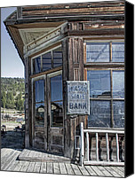 Pioneers Canvas Prints - Molson Washington Ghost Town Bank Canvas Print by Daniel Hagerman
