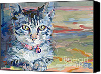 Tabby Painting Canvas Prints - Mona Lisa Canvas Print by Kimberly Santini