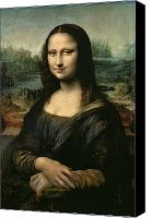 Female Canvas Prints - Mona Lisa Canvas Print by Leonardo da Vinci
