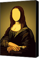 Archival Canvas Prints - Mona Lisa Canvas Print by Setsiri Silapasuwanchai