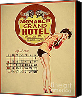 Noseart Canvas Prints - Monarch Grand Hotel Canvas Print by Cinema Photography