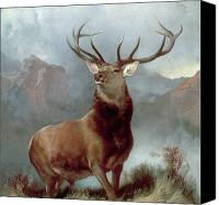 Wild Canvas Prints - Monarch of the Glen Canvas Print by Sir Edwin Landseer