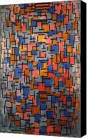Faa Canvas Prints - Mondrian: Composition Canvas Print by Granger