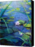 Landscape Pastels Canvas Prints - Monets Garden Canvas Print by Susan Jenkins