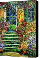 Beata Canvas Prints - Monets Giverny Oil Painting Canvas Print by Beata Sasik