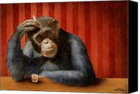 Bars Painting Canvas Prints - Monkey bars...he said... Canvas Print by Will Bullas