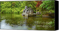 Raining Canvas Prints - Monks fishing house at Cong Abbey Canvas Print by Gabriela Insuratelu