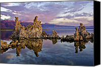 Desert Southwest Canvas Prints - Mono Lake Sunset Canvas Print by Dave Dilli
