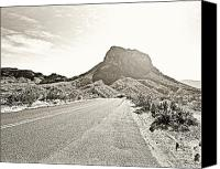 Big Bend Canvas Prints - Monochrome Big Bend National Park Canvas Print by M K  Miller
