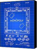Invention Canvas Prints - Monopoly Patent Canvas Print by Stephen Younts