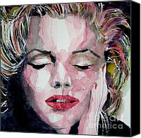 Marilyn Monroe  Canvas Prints - Monroe no 6 Canvas Print by Paul Lovering