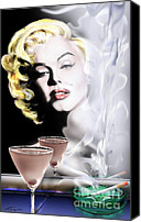 Norma Jean Canvas Prints - Monroe-Seeing Beyond Smoke-N-Mirrors Canvas Print by Reggie Duffie