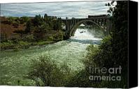 Monroe Canvas Prints - Monroe Street Bridge - Spokane Falls Canvas Print by Reflective Moments  Photography and Digital Art Images