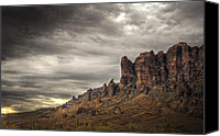 The Supes Canvas Prints - Monsoon in the Superstitions  Canvas Print by Saija  Lehtonen