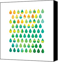 Drops Canvas Prints - Monsoon Rain Canvas Print by Budi Satria Kwan