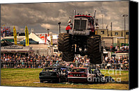Demonstration Photo Canvas Prints - Monster Truck Destruction  Canvas Print by Rob Hawkins
