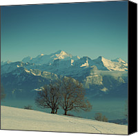 Mountains Canvas Prints - Mont Blanc Canvas Print by Lionel Albino