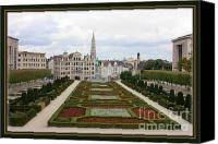 Brussels Canvas Prints - Mont des Arts towards the Grand Place Canvas Print by Carol Groenen