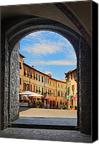 Architecture Photo Canvas Prints - Montalcino loggia Canvas Print by Inge Johnsson