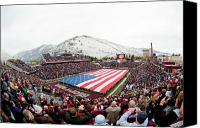 Montana Canvas Prints - Montana Washington-Grizzly Stadium Canvas Print by University of Montana