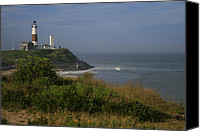 Lighthouse Canvas Prints - Montauk Point Canvas Print by Christopher Kirby