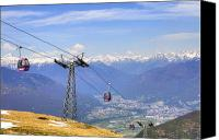 Mountain View Photo Canvas Prints - Monte Tamaro - Switzerland Canvas Print by Joana Kruse