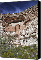 Indian Ruins Canvas Prints - Montezumas Castle Sedona Canvas Print by Forest Alan Lee