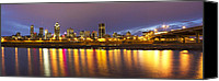 Eavning Canvas Prints - Montreal Panorama Canvas Print by Mircea Costina Photography