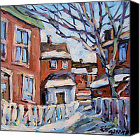 Prankearts Canvas Prints - Montreal Scene 03 by Prankearts Canvas Print by Richard T Pranke