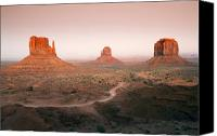 Sandstone  Canvas Prints - Monument Dusk Canvas Print by Mike  Dawson