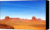 Southwest Mesa Landscape Canvas Prints - Monument Valley Landscape Canvas Print by Jane Rix