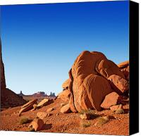 Arid Canvas Prints - Monument Valley rocks Canvas Print by Jane Rix