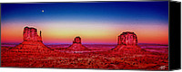 Red Moon Digital Art Canvas Prints - Monument Valley Canvas Print by Steve Huang