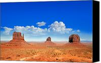 Arid Canvas Prints - Monument Vally Buttes Canvas Print by Jane Rix