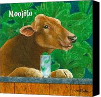 Cow Canvas Prints - Moojito... Canvas Print by Will Bullas