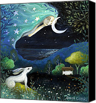 Mother Earth Canvas Prints - Moon Dream Canvas Print by Amanda Clark
