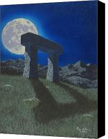 Prehistoric Canvas Prints - Moon Gate Canvas Print by Martin Bellmann