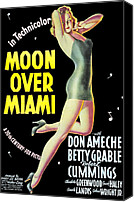 1940s Portraits Canvas Prints - Moon Over Miami, Betty Grable, 1941 Canvas Print by Everett