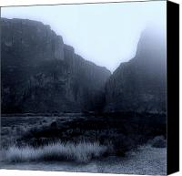 Big Bend Canvas Prints - Moonlight Big Bend Park and Rio Grand River Canvas Print by M K  Miller