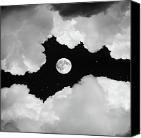 Sky Pyrography Canvas Prints - Moonlight Canvas Print by Ian David Soar
