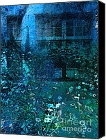 Annpowellart Canvas Prints - Moonlight in the Garden Canvas Print by Ann Powell