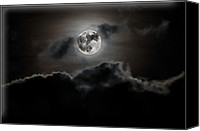 Silver Moonlight Canvas Prints - Moonlight Canvas Print by Paul Howarth