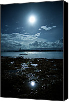 Cloud Glass Canvas Prints - Moonlight Canvas Print by Rodell Ibona Basalo