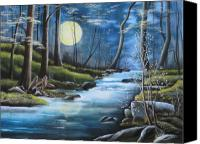 Rj Mcnall Canvas Prints - Moonlight Serenade Canvas Print by RJ McNall