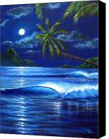 Moonlit Painting Canvas Prints - Moonlit Serenade Canvas Print by Patrick Parker