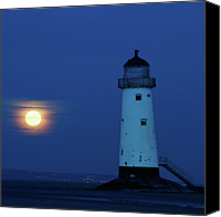 Guidance Canvas Prints - Moonrise At Talacre Beach Canvas Print by copyright Ian Bramham Photography