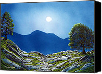 Moonlit Painting Canvas Prints - Moonrise Canvas Print by Frank Wilson