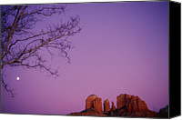 Sedona Canvas Prints - Moonrise Over Oak Creek Canyon Canvas Print by Stockbyte