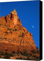 Sedona Canvas Prints - Moonrise over Red Rock Canvas Print by Mike  Dawson